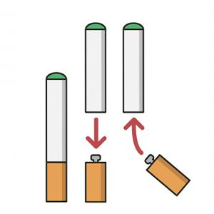 Cartomizer(refill) Batterijen